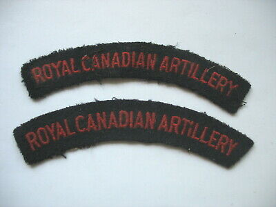 ROYAL CANADIAN ARTILLERY - PAIR of OLDER CANADIAN ARMY SHOULDER FLASH PATCHES