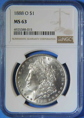 1888 O Morgan Silver Dollar $1 NGC Graded MS63 BU Uncirculated