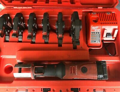 Milwaukee M18 FORCE LOGIC Crimper Press Tool 2773-22  Jaws Case Kit EXCELLENT !!