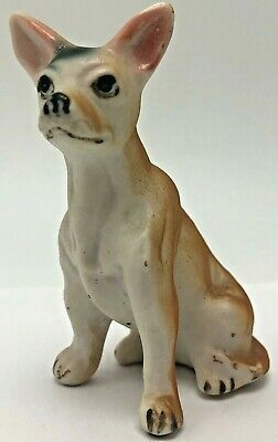 Vintage Bone China Adult Chihuahua Dog Figurine Sitting