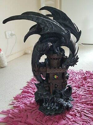 Dragon Statue large dark 50cms