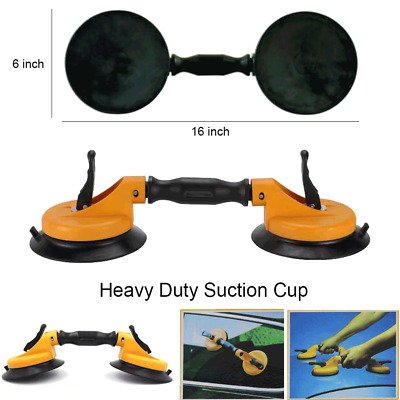 Heavy Duty Double Head Windshield Suction Cup, Pad for Glass, Autoglass install