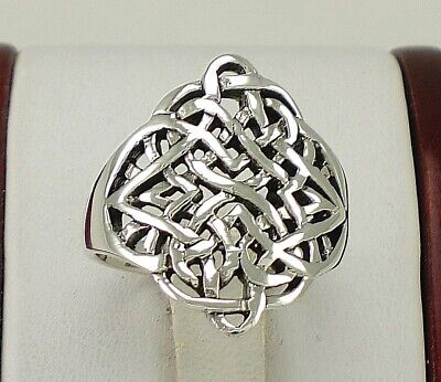 UNIQUE .925 STERLING SILVER CELTIC KNOT BAND RING sz 6  style# r1560