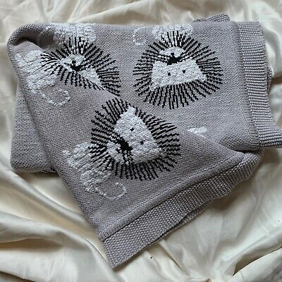 """Frolics Kids Collection Cotton Throw Baby Blanket Lions Gray 36""""x 32"""""""