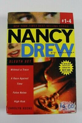 Nancy Drew Girl Detective 4 Book Paperback Set Without a Trace Race Against Time