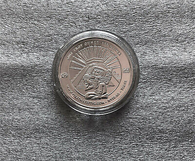 2010 First Majestic Aztec 1oz Silver Coin in Capsule