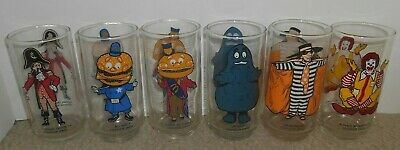 1970s McDonald's COLLECTOR SERIES Drinking Glasses COMPLETE SET OF 6 ( Set #2)