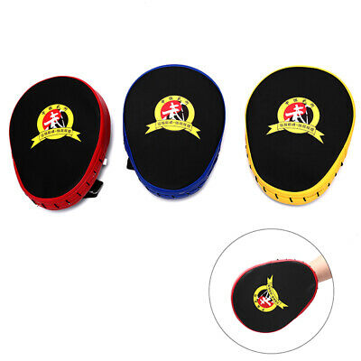 Hand Target Kick Pad Kit Black Training Focus Punch Pads Sparring Boxing Bag Y_A