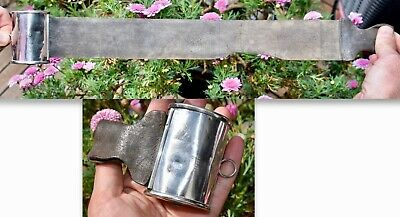 H/M Sterling Silver Barbers Strop - Retractable Leather Razor Sharpening Belt
