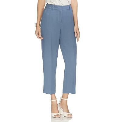 Vince Camuto Womens Parisian Blue Crepe Straight Leg Cropped Pants 12 BHFO 2528