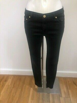 Michael Kors Black Skinny Jeans with Gold Detailing