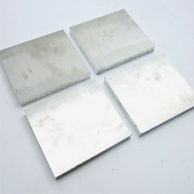 ".625"" thick 6061 Aluminum PLATE  5.625"" x 5.875"" Long QTY 4 t Stock sku 122276B"