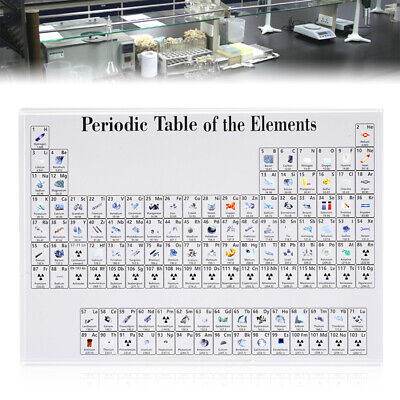 Periodic-Table Display Teaching Elements Acrylic Student Teacher Desk Ornament