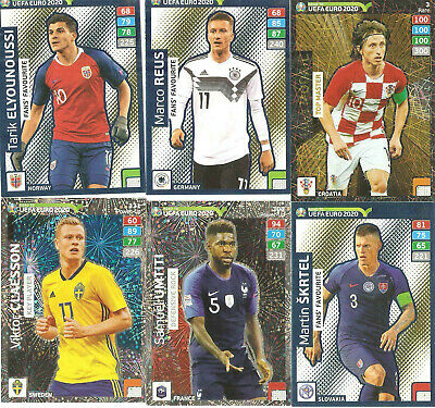 Panini Adrenalyn XL Road to Uefa Euro 2020 -3 Special Cards/Rare Cards aussuchen