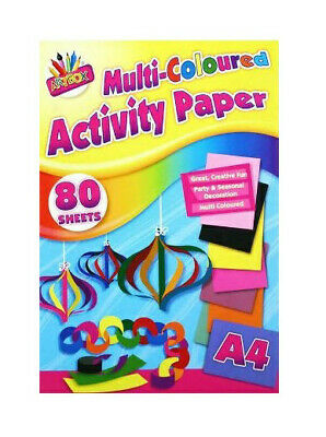 A4 Activity Paper 80 Sheets Multi Colours Crafts Art Stationary