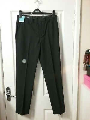 Marks and spencer Boys Charcoal Grey Ultra Slim Leg School Trousers Age 14/15 BN