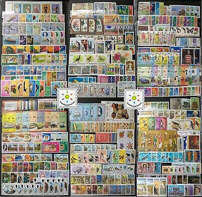 Worldwide Stamp Collection MNH - 30 Full Sets from 30 Different Countries & Gift