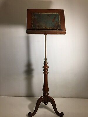 Early Victorian  Mahogany Adjustable Muisc  Stand On Cabriole Legs