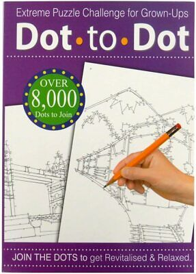 Adult extreme puzzle dot to dot. A4 book. Great way to relax! UK Seller.