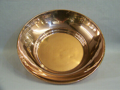 LOVELY VINTAGE ANTIQUE ENGLISH MID CENTURY ART DECO COPPER FRUIT BOWL vgc C1950.