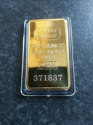 House clearance item. Credit Suisse Gold Bar.