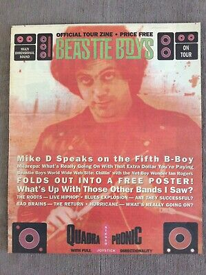 Beastie Boys Official Tour Zine 1995 Quadraphonic Grand Royal Magazine MINT!!