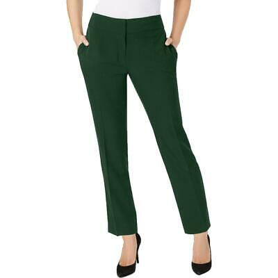 Kasper Womens Green Crepe Office Wear Slim Fit Trouser Pants Plus 16 BHFO 3191