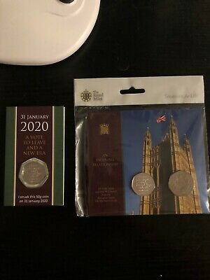 Sold out Brexit Royal Mint 2020 2 Coin Withdrawal From The EU 50p Set+ SYO Day 1