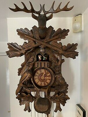 Cuckoo Clock Vintage German Black Forest