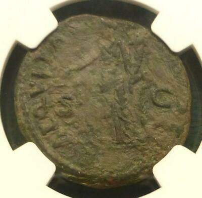 AD 96-98 NGC Ch VF Roman Empire Nerva AE As Ancient Coin, Aequitas Standing Rev
