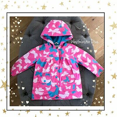 Guaranteed Auth! HATLEY Girl's Pink RAIN COAT with BUTTERFLIES Age 2 Years 2 - 3