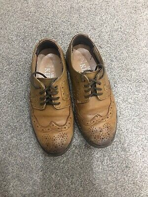 Marks & Spencer Boys Tan Smart Shoes, Fully Leather, Worn Occasionally Size 12