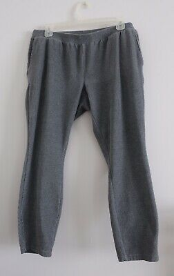 Lands End Gray Legging Pants Women's Large Petite Stretch Corduroy With Pockets