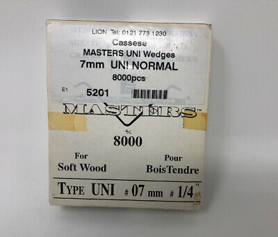 Cassese Masters SW-BT Wedge V nail 8000 / box 7MM 1/4 INCH UNI NORMAL SOFT WOOD