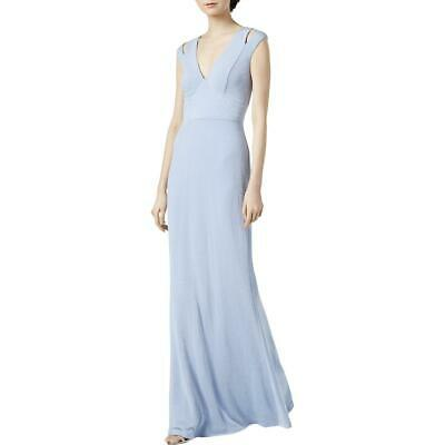 Calvin Klein Womens Blue Metallic Cut-Out Formal Evening Dress Gown 12 BHFO 7865
