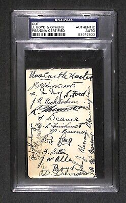 1931-32 Newcastle United Football team SIGNED AUTOGRAPH FA Cup Champion PSA/DNA