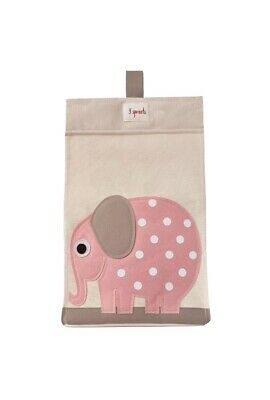 3 Sprouts Infant/Baby Elephant Diaper Stacker Canvas NEW