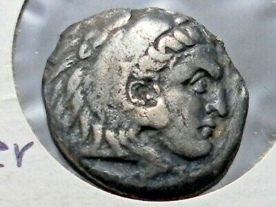 Ancient Macedon, Alexander III AR Drachm, 336-323 BC Silver Coin Weight 3.6 Gr.