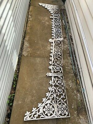 Antique original Victorian cast iron lace: length = 4.35m+