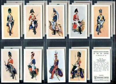 Trade Card Set, Ringtons, BRITISH CAVALRY UNIFORMS OF THE 19th CENTURY