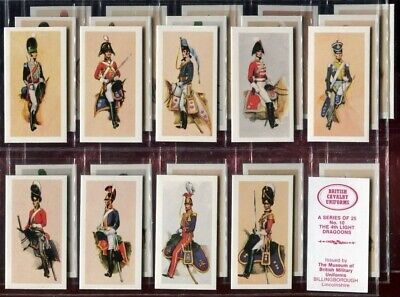 Trade Card Set, Museum of Military, BRITISH CAVALRY UNIFORMS OF THE 19th CENTURY