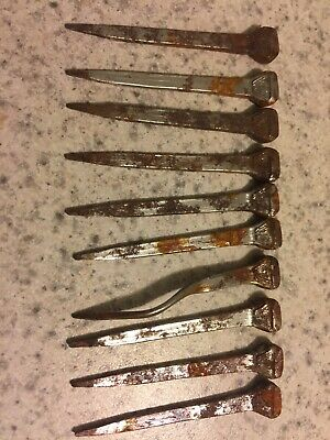 Lot Of 10 Vintage Rusty Horseshoe Nails ( Crafts Jewelry Antiques)
