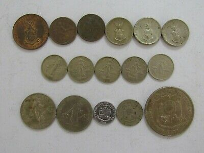 Lot of 20 Different Old Philippines Coins - 1944 to 1972 - Circulated