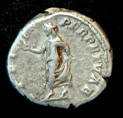ANCIENT ROMAN COIN: CARACALLA, SPES      SCARCE DENARIUS   aVF