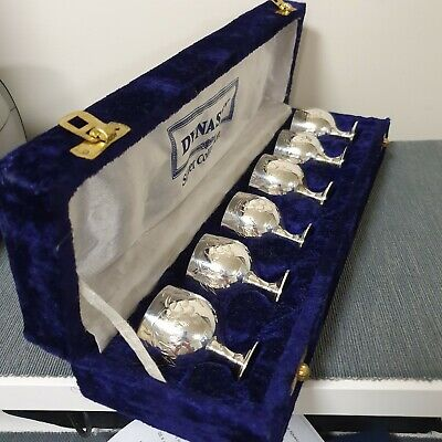 Dynasty Silver Collection Vintage Goblets x6