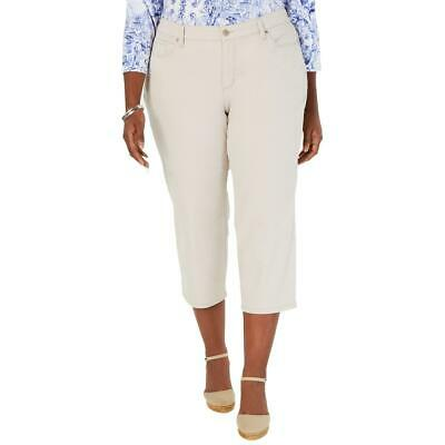 Charter Club Womens Bristol Beige Slimming Fit Capri Pants Plus 18W BHFO 3630