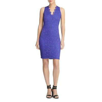 Donna Karan Womens Blue Lace Scalloped Party Cocktail Dress 14 BHFO 2116