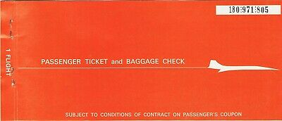 Airline tickets TWA Trans World Airways Chicago O'Hare Philadelphia one way 1972