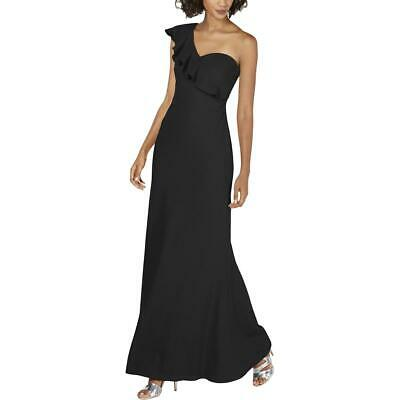 Calvin Klein Womens Black Formal Ruffled Evening Dress Gown 16 BHFO 3288