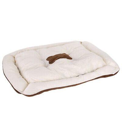 """Delux Dog Cat Puppy Bed Orthopedic Pet Lounger Cushion Crate Foam Soft Mat 35"""""""